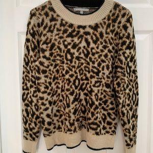 Daniel Rainn crewneck-leopard-print-sweater Size S